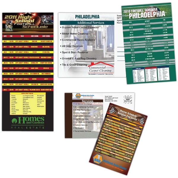 "3 1/2"" X 5 1/2"" - Sports Schedule Mailer With Magnetic Strip On The Back Photo"