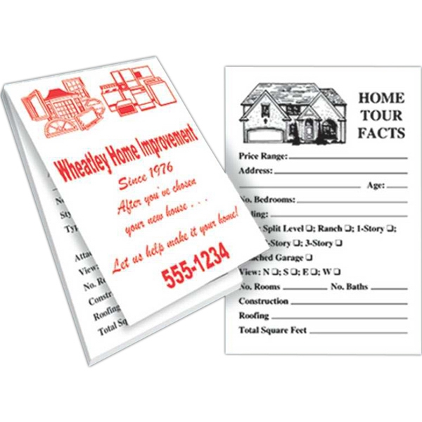 "Real Estate Memo Book With 25 Sheets, 2 5/8"" X 3 7/8"" Photo"