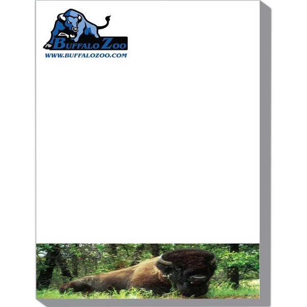 "Scratch Pad With 50 Sheets, 4 1/8"" X 5 3/8"", Padded On 4 1/8"" Photo"