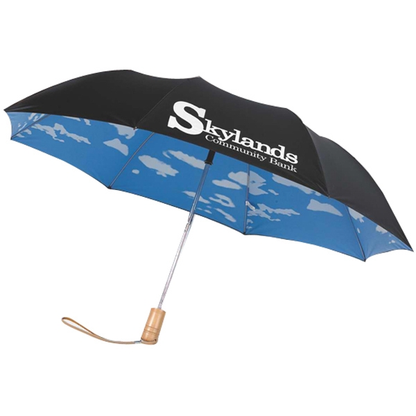 "Automatic Opening 43"" Arc Folding Umbrella With Pu Coated Double Sided Fabric Photo"