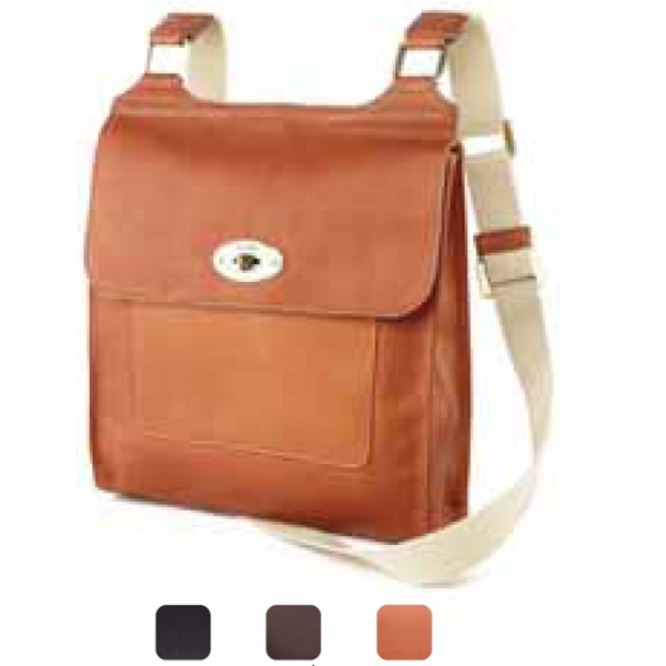 Crossbody - Turnlock Flap Crossbody Made Of Vachetta Leather Photo