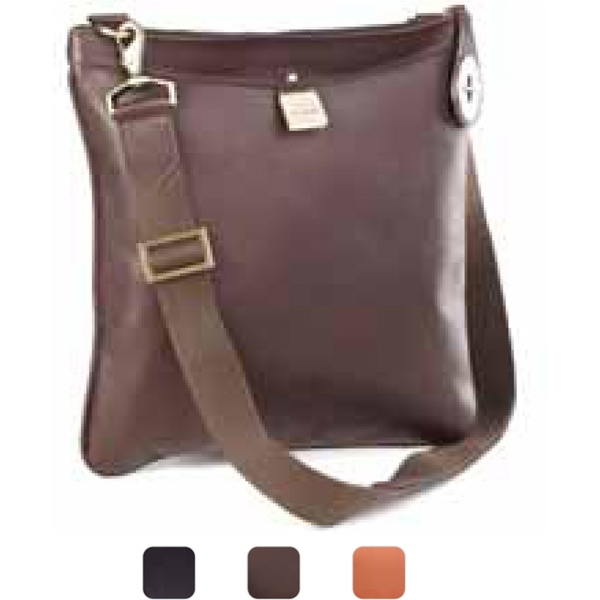 Crossbody - Turnlock Ziptop Crossbody Made Of Vachetta Leather Photo