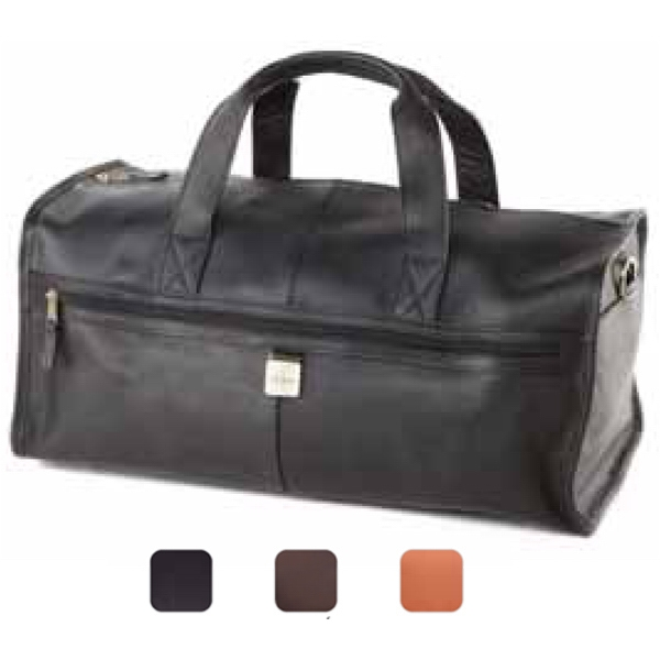 Leather Large Square Duffel Bag Photo