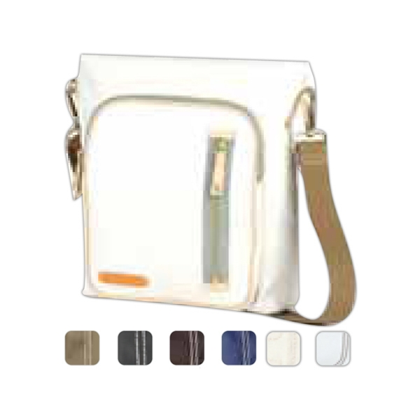 Carina - Coated Canvas Square Pocket Crossbody Tote Bag Photo
