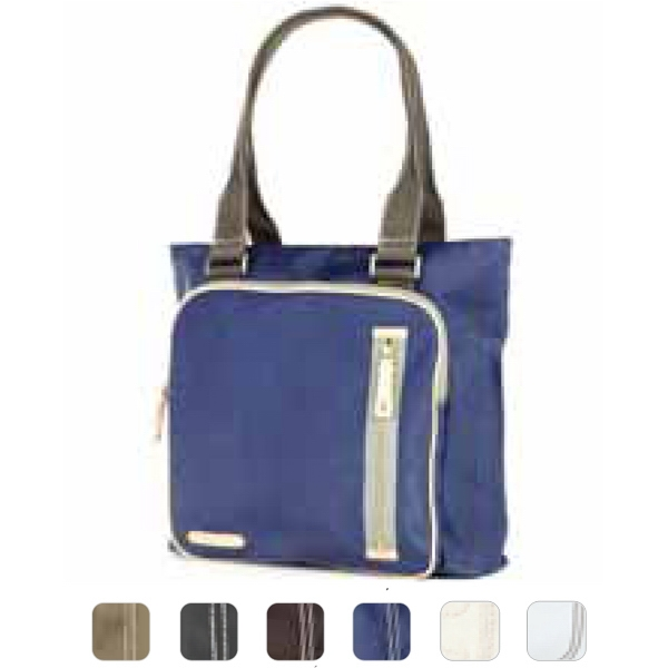 Carina - Coated Canvas Square Pocket Tote Bag Photo