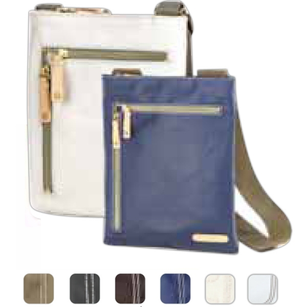 Carina - Coated Canvas Mini Crossbody Tote Bag Photo