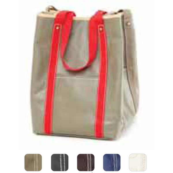 Carina - Coated Canvas Two Faced Tote Bag Photo