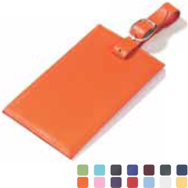Clava(r) - Rectangle Luggage Tag With Business Card Sized Window Hidden Under Flap Photo