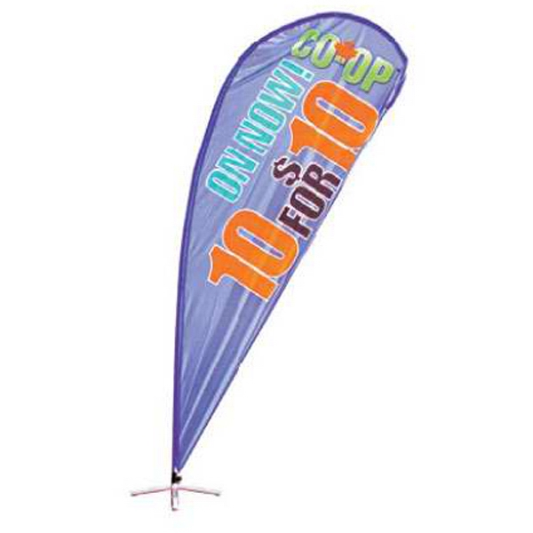 Tear Drop Banner 110cm x 220cm, 1 color included