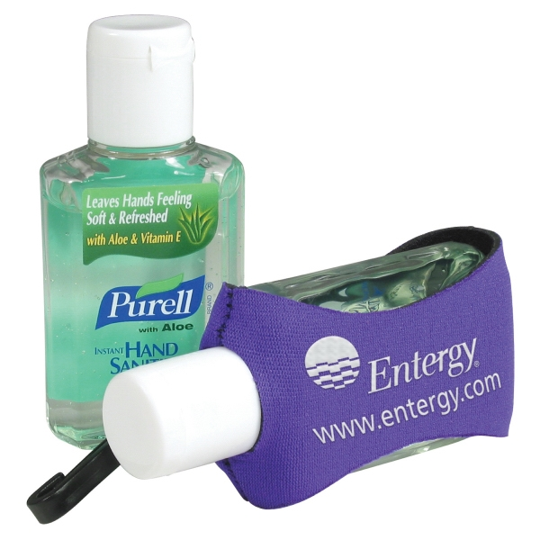 Purell (r) Personal Care Line - Purell Hand Sanitizer In A 2 Oz. Bottle With Aloe Sanitizer In A Holder With Clip Photo