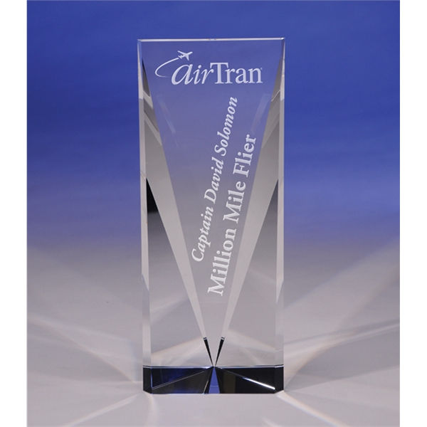 "Progress - Attainment 10"" Crystal Award By Crystal World. Sp215 - New For 2011! Photo"