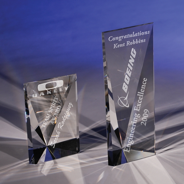 "Attainment - Attainment 6"" Crystal Award By Crystal World. New For 2011! Photo"