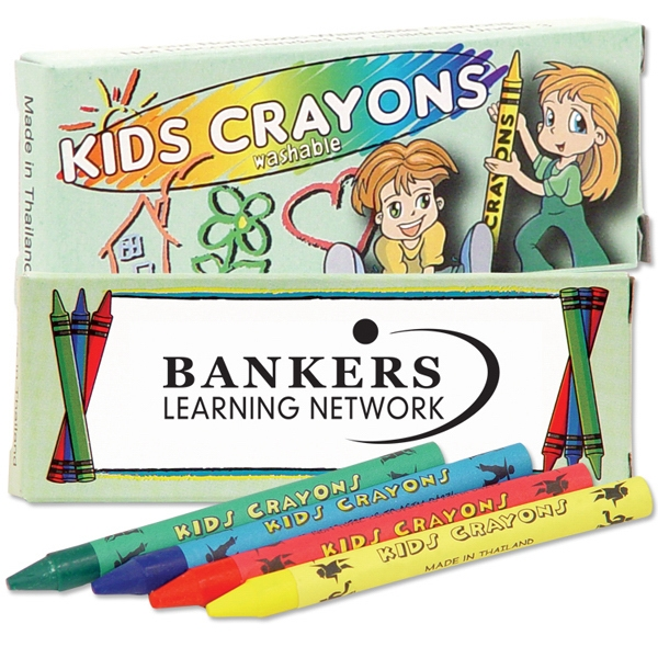 Four Pack Of Washable Crayons. Blank Photo