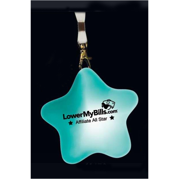 Multifunction Light Up Star Shape Medallion Necklace. Blank Photo