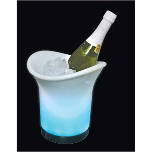 Stock Led Champagne/wine Chiller Ice Bucket. Blank Photo
