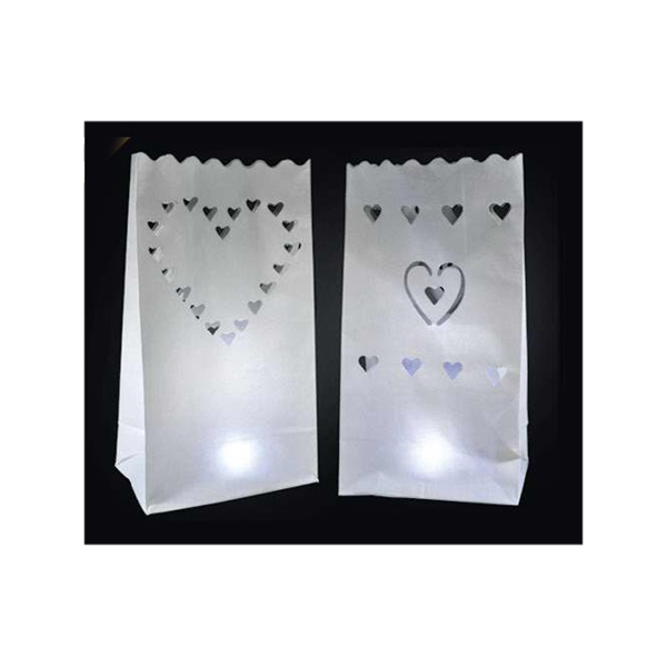 Blank, Stock Luminary Bag With Heart Designs Photo