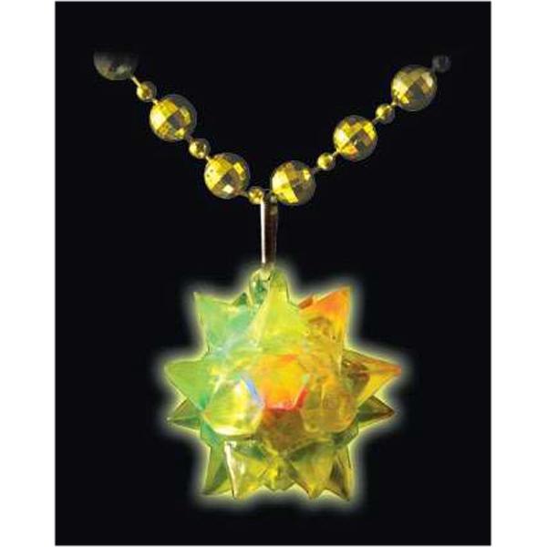 Mardi Gras beaded crystal star necklace