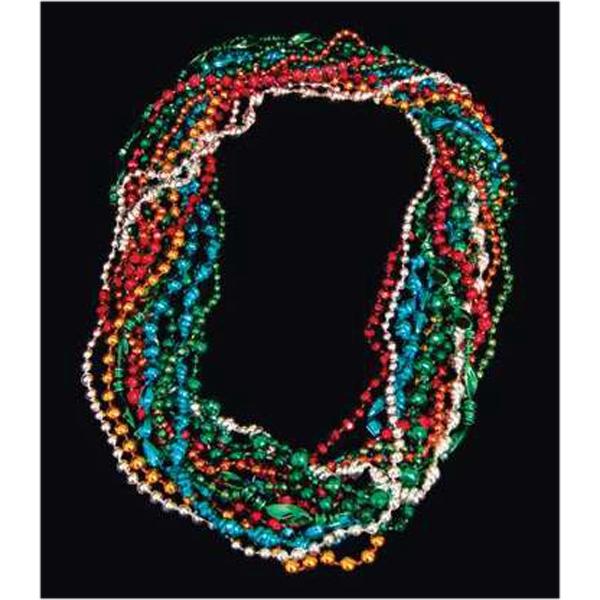 Multicolor assorted style Mardi Gras beads