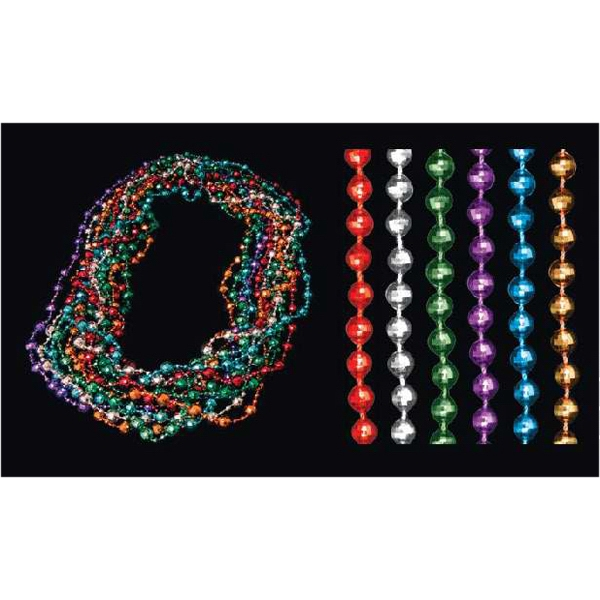 10/4mm assorted color disco Mardi Gras beads
