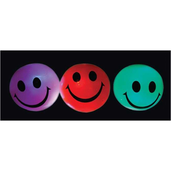 "2.12"" smiley face lighted bouncy ball"