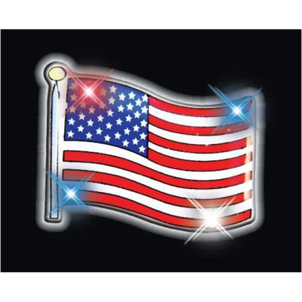USA flag flashing pin