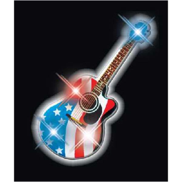 American guitar flashing pins