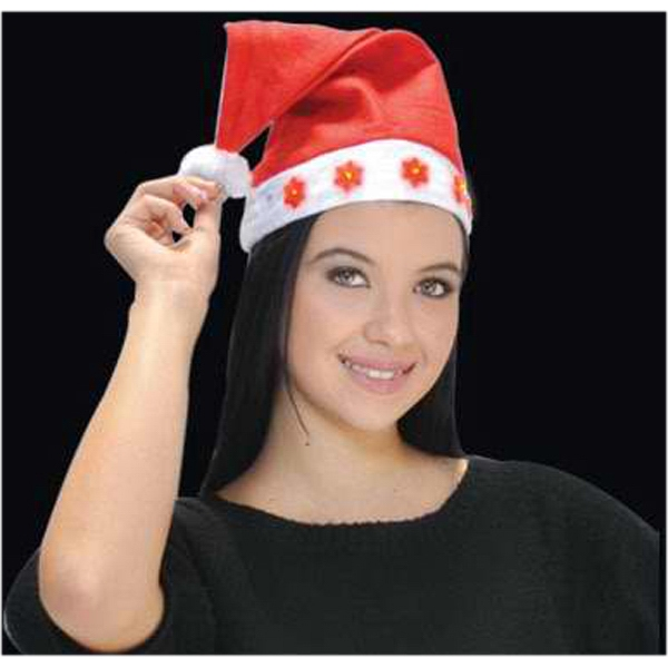 Light up Santa hat with snowflakes