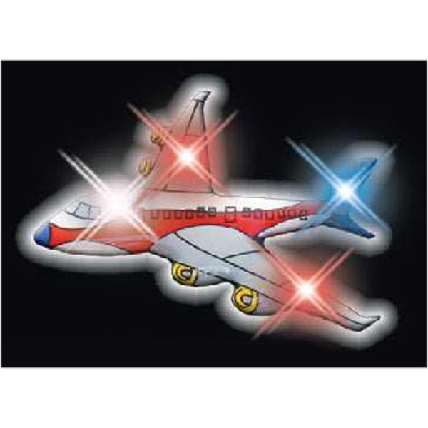 LED Airplane Blinky Pins