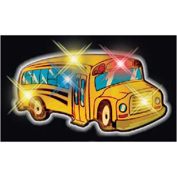 Flashing School Bus Pins
