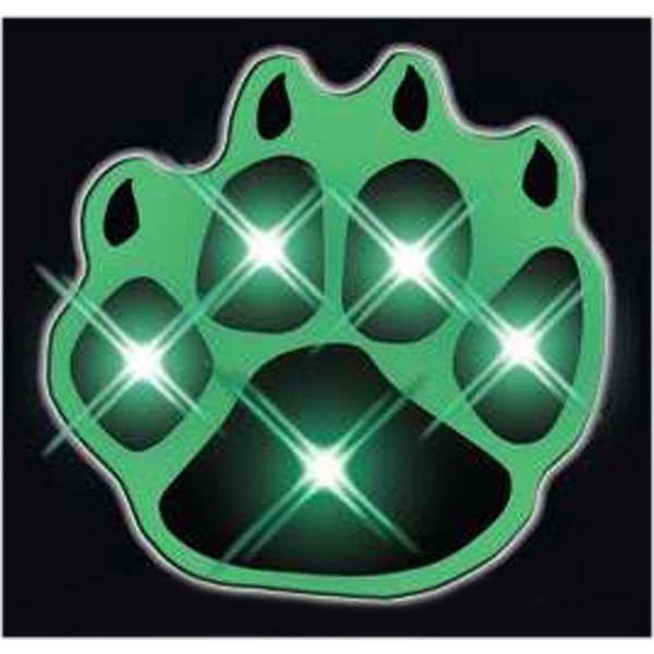 Jade LED Paw Print Flashing Pins