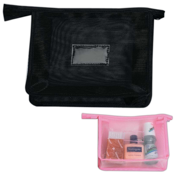 Web - Web Cosmetic Bag, Flat And Flexible, Closeout Photo