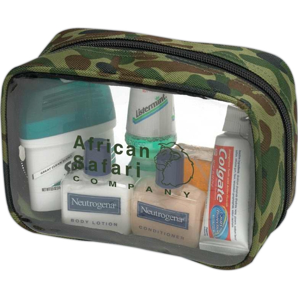 Clear Pvc And Nylon Bag With Camouflage Print Photo