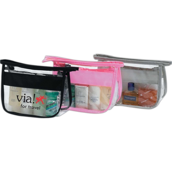Sheer clear cosmetic bag