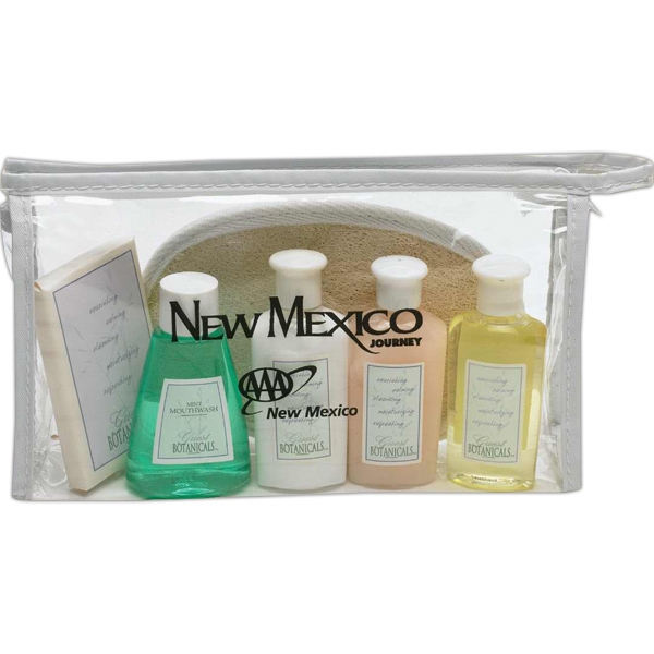 Guest Botanicals - Clear Pvc Bag With Conditioner, Shampoo, Lotion And Body Bar Photo