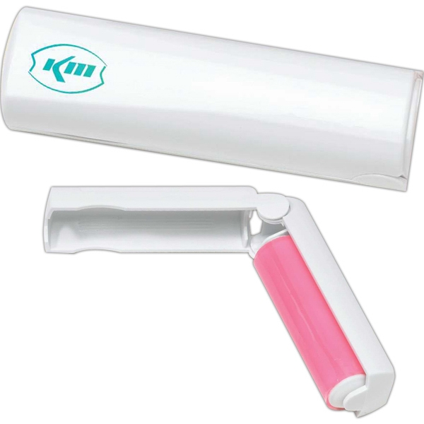 Lint Remover With Silicone Lint Roller And Fold-over Protective Handle, Closeout Photo