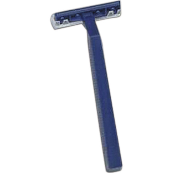 "Navy Twin Blade Razor, 4"", Blank Photo"