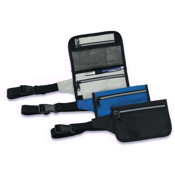 Flat Nylon Belt Bag With Adjustable Strap And Zipper Pocket, Closeout Photo