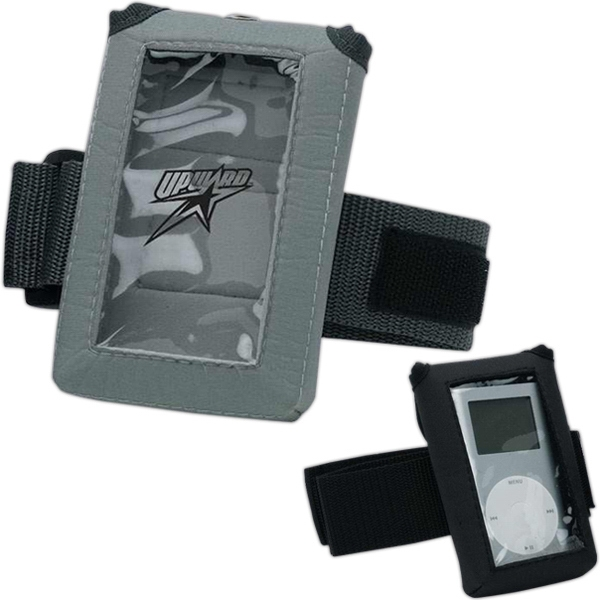 Soft Waterproof Polyester Athletic Pouch With Window For Mp3 Player Or Ipod,closeout Photo