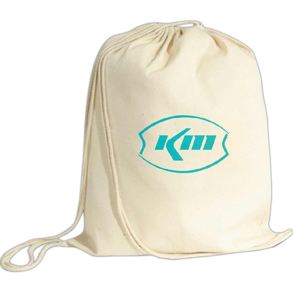 Vanilla - Six Ounce Cotton Twill Drawstring Backpack Photo