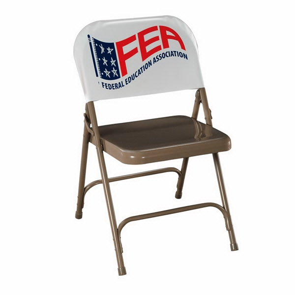 "Vinyl Chair Back Cover, Turns An Ordinary Folding Chair Into A Billboard, 11"" X 20"" Photo"