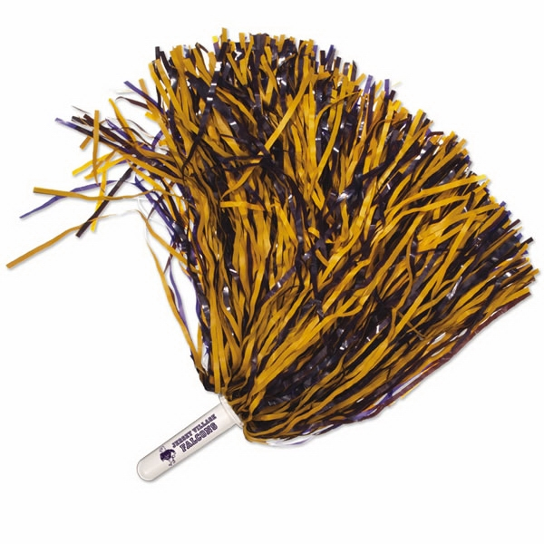 "Cheerstar - 1,250 Streamer Cheerstar Pom - Pom With 4"" Plastic Handle Photo"