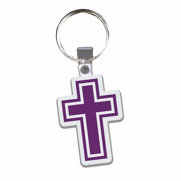 Cross - Soft Plastic Key Tag Photo