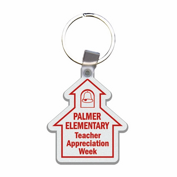 School House - Soft Plastic Key Tag Photo