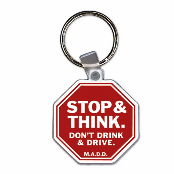 Stop Sign - Soft Plastic Key Tag Photo
