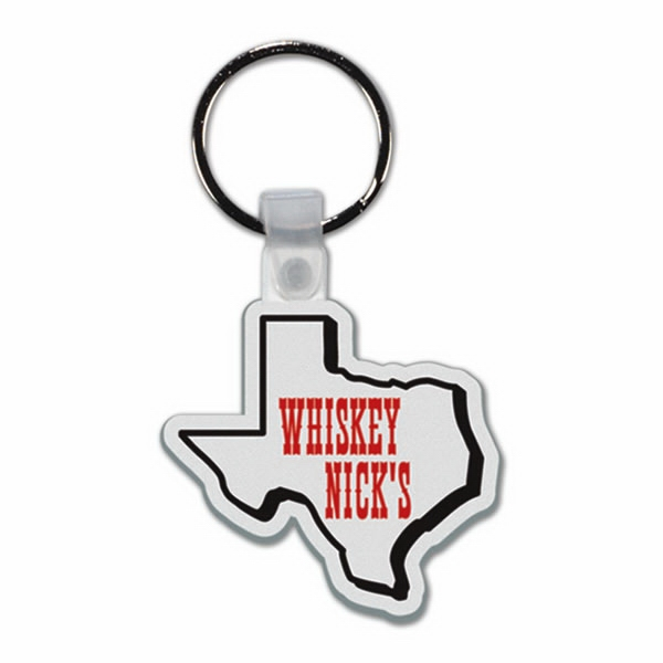 Texas - Soft Plastic Key Tag Photo