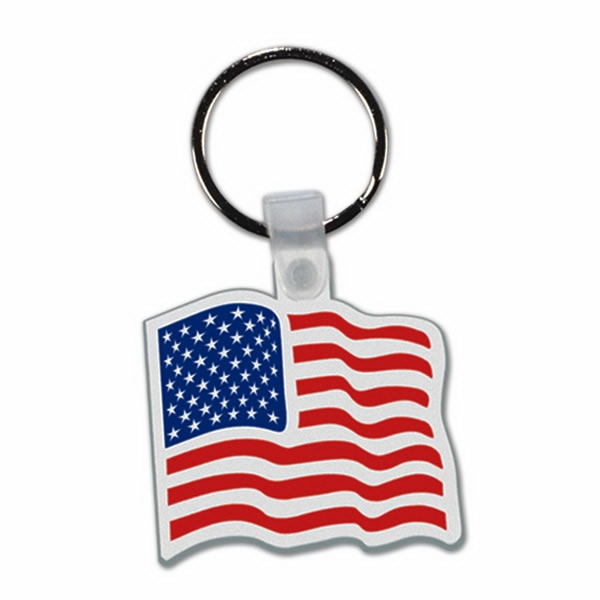 Flag - Soft Plastic Key Tag Photo