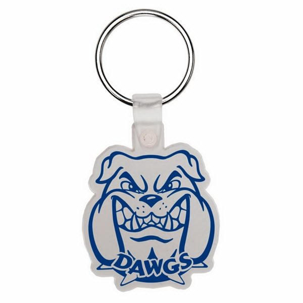 Bulldog Head - Soft Plastic Key Tag Photo