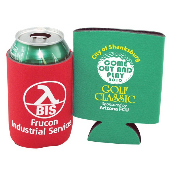 Custom Coolie (r) - Patented Collapsible Beverage Insulator. 2-day Quickship Photo