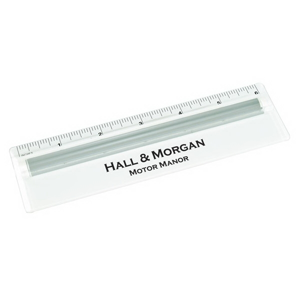 Six Inch Ruler With Magnifier. 2-day Photo