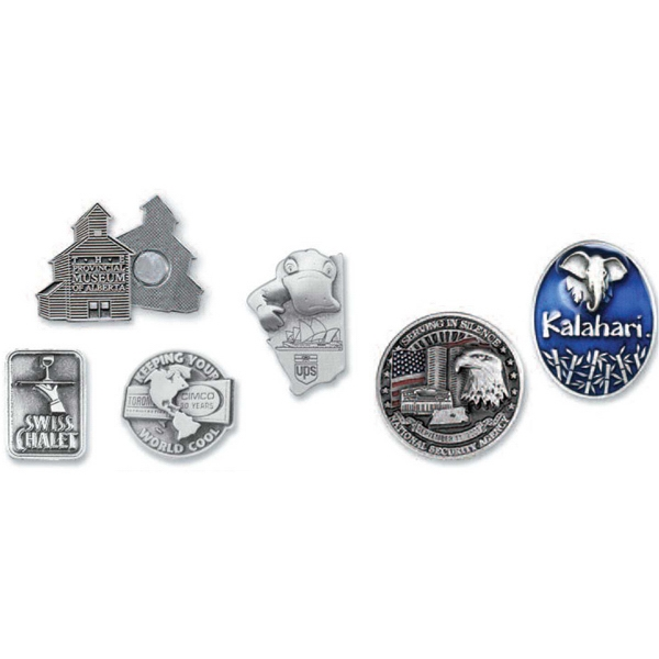 "1"" - Solid Pewter Domestic Lapel Pins Photo"